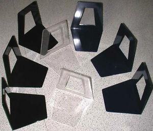 10 Stück Buchstütze Buchstützen Buchständer schwarz blau klar transparent Zimmer