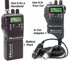 75-822 MIDLAND CB In Car or Handheld 40-Ch Radio with Weather