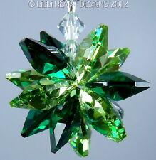 m/w Swarovski Crystal Dk. and Lt. Greens Sunburst Suncatcher Lilli Heart Designs