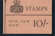 GB 1966 X14 10/- Wilding Booklet