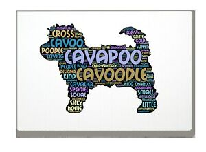 Cavapoo Art Print Word Art A4 A3 Mothers Day Gift Personalised Option
