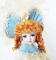 KAITLYN 25 in FULL PORCELAIN GLASS EYES MOHAIR JANIS BERARD KAIS VICTORIAN DOLL