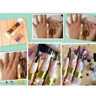 Gold 500Pcs Decoration Nail Art Forms Acrylic UV Gel Tip Extension Sticker Decor
