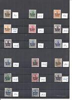 Deutsche Besetzung WK I, Belgien, Auswahl aus 1 - 25, postfrisch **/gestempelt o