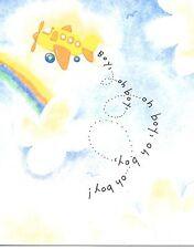 Congratulations On Your New Baby Boy Oh Boy - Airplane - Hallmark Greeting Card