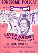 "SEVEN BRIDES FOR SEVEN BROTHERS Sheet Music ""Lonesome Polecat"" Jane Powell"