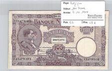 BILLET BELGIQUE - 100 FRANCS - 6.10.1924