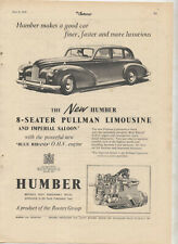 Humber Pullman Limousine Original Advertisement removed from a Magazine
