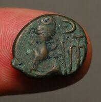 E16-04   ELYMAIS, Phraates, AE Drachm, 2nd century AD       reverse:  dashes