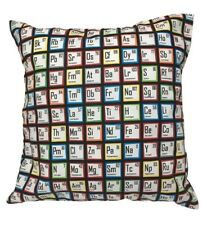 SCIENCE PERIODIC TABLE CUSHION PILLOW COVER CHEMICAL GEEK LAB COOL GIFT IDEA NEW