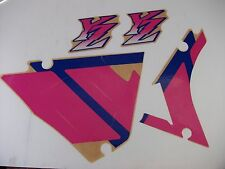 YAMAHA YZ125 89 - 92 DECALS GRAPHICS 1992 MODEL CORRECT MAGENTA SHROUD 89 YZ250