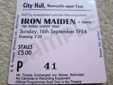 Iron Maiden Concert Coasters concert Ticket Sept 1984 High quality mdf