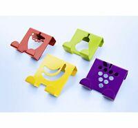 Türhaken 4er Set mit Früchtemotiv Metall Haken für Tür Schrank Handtuchhalter