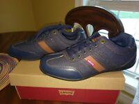 Levi's Solano Denim Casual Shoe, Men's Size 9, Navy/Tan