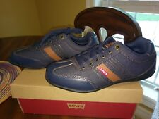 Levi's Solano Denim Casual Shoe, Men's Size 9, Navy/Tan