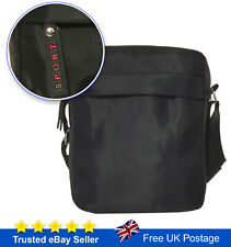 Mens Messenger Bag Cross Body Black Shoulder Utility Travel Work Bag Waterproof