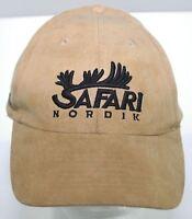 Vintage Safari Nordik Nunavik World Outfitters Corporation Suede Hat Tan Cap 1Sz