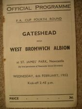More details for gateshead  v  west bromwich albion  51/2  fa cup.