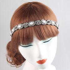 Vintage Ethnic Beaded Rhinestone Handmade Elastic Headband Hair Accessories