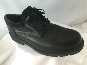 Mens Clarks Black Leather Waterproof Lace Up Shoes Size 9