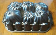 Nordic Ware USA Pumpkin Harvest Loaf Pan Cast Aluminum Baking Mold 6 Cup EUC!
