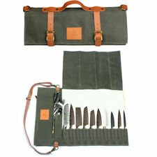 Chef Knife Wallet Bag Knives Kitchen Roll Carry Chef Case 10 Slots Storage Bag