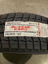 4 New 235 60 16 Bridgestone Blizzak Ws80 Snow Tires