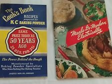 Lot of 2 Vintage KC Baking Powder Recipes & Meals Go Modern Electrically