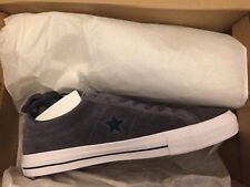 4cdce6221dd Converse One Star Pro Ox Low Top Shark Skin Gray Suede Atomic Teal 10