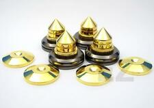 16x Speaker Spike Isolation Stand Cone & 16x Base Pads  + Free 20 RCA Cover Cap