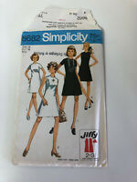 Simplicity 1970 UNCUT Sewing Pattern 8682 A-Line Dress Size 14, Bust 36
