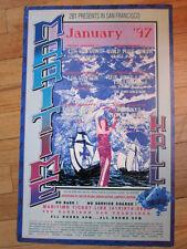Maritime Hall Jerry Garcia David Crosby 1997 poster
