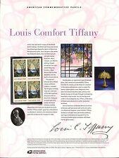 #4165  41c Louis Comfort Tiffany  USPS #795  Commemorative Stamp Panel