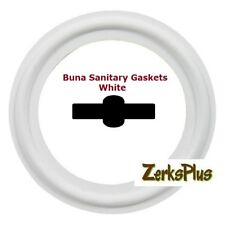 "Sanitary Gasket Tri Clamp Style 8"" Buna White Price for 1 pc"