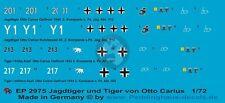 Peddinghaus 1/72 Otto Carius Tiger I and Jagdtiger Markings WWII (4 tanks) 2975