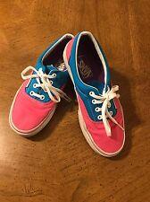 VANS shoes Hot Pink Turquoise Shoes Men's size 5 1/2