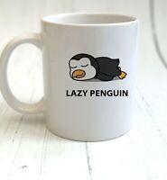 Lazy Penguin - Lazy Animals Mug & Coaster Gift - Cup Set