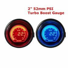 Car Motor 2'' 52MM Digital Boost PSI Meter Vacuum Gauge Electric EVO RED/BLUE