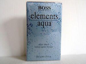 Hugo Boss Elements Aqua Aftershave  100ml After Shave NEU OVP in FOLIE