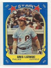 1981 Fleer Baseball Star Sticker - #75 - Greg Luzinski - Philadelphia Phillies
