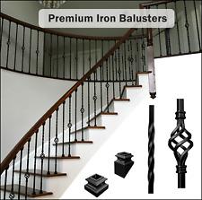 Premium Iron Balusters - Iron Spindles - Metal Stair Parts - Satin Black