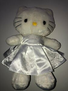 "2013 Build A Bear Sanrio 19"" Hello Kitty BRIDE With BAB Clothes Works Sound! EUC"