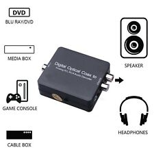 Dolby Digital Optical Converter Coaxial Toslink to Analog RL RCA Audio Decoder