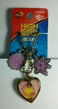 Star Locket Necklace Stocking Stuffer High School Musical Chad Gold Flower