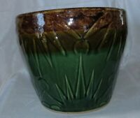Large Robinson Ransbottom Green Brown Sun & Moon Heavy Jardinere Planter