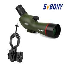 SV19 15-45x60mm FMC Spotting Scopes IPX6 Waterproof+Universal Adapter Shooting