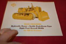 Allis Chalmers HD-11 Crawler Tractor 8 foot Dealer's Brochure YABE14 ver22