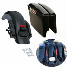 """5"""" Stretched Saddlebags & CVO Rear Fender For Harley Touring Electra Glide 14-19"""