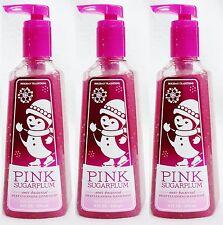 3 Bath Body Works PINK SUGARPLUM Deep Cleansing Antibacterial Hand Soap Wash