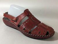 Rieker Women 9 M EUR 40 Antistress Red Leather Slingback Fisherman Sandals Shoes